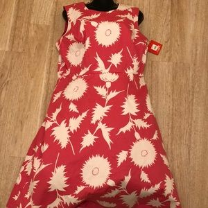 Pink white dress new with tag 18 Isaac mizrahi